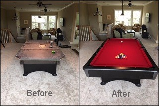 expert pool table recovering in Edison content img3
